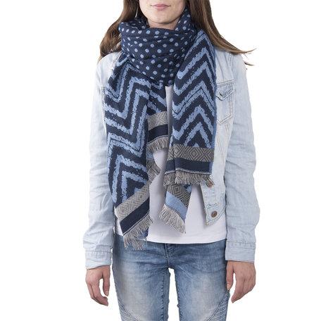 Sjaal 68*180 cm Blauw | JZSC0377BL | Clayre & Eef