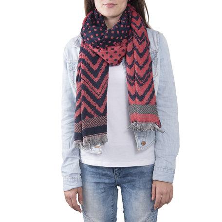 Sjaal 68*180 cm Rood | JZSC0377R | Clayre & Eef
