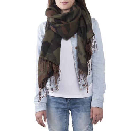 Sjaal 68*180 cm Groen | JZSC0378GR | Clayre & Eef