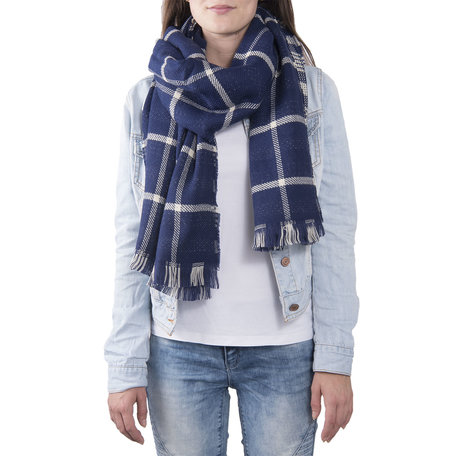 Sjaal 68*180 cm Blauw | JZSC0379 | Clayre & Eef