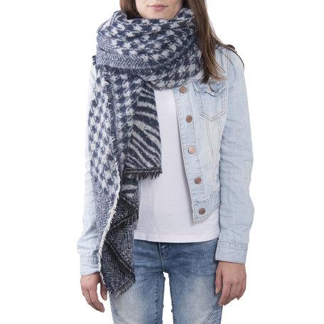 Sjaal 85*200 cm Blauw | JZSC0380BL | Clayre & Eef