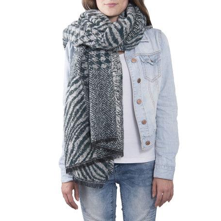 Sjaal 85*200 cm Groen | JZSC0380GR | Clayre & Eef