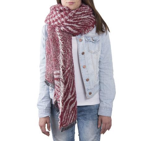 Sjaal 85*200 cm Rood | JZSC0380R | Clayre & Eef