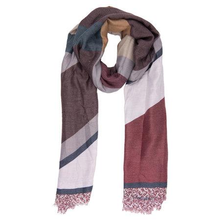 Sjaal 90*190 cm Rood | JZSC0384R | Clayre & Eef