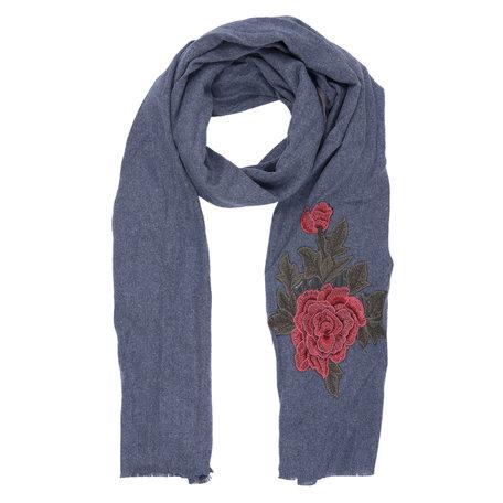 Sjaal 62*195 cm Blauw | JZSC0388BL | Clayre & Eef