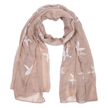 Sjaal 90*180 cm Beige | JZSC0389BE | Clayre & Eef