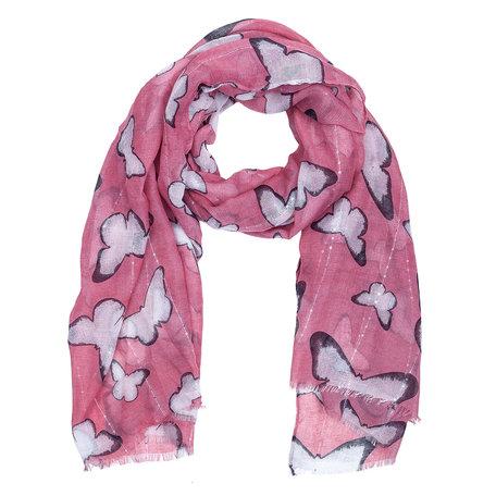 Sjaal 90*180 cm Roze | JZSC0399P | Clayre & Eef