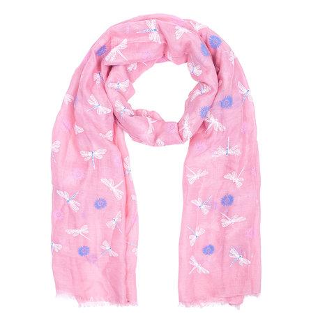 Sjaal 70*180 cm Roze | JZSC0401P | Clayre & Eef