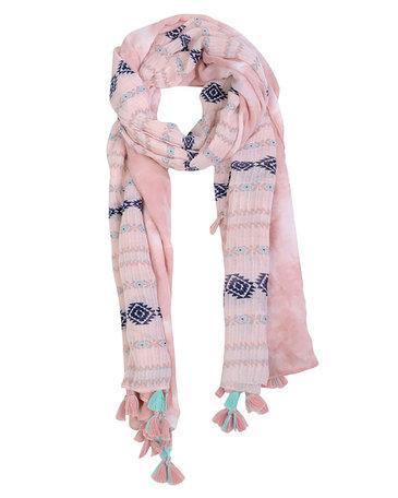 Sjaal 90*180 cm Roze   MMSC0044   Clayre & Eef