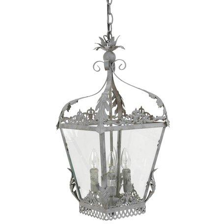 Hanglamp 29*29*58 cm E14/max 4*25W Grijs | 40535Z | Clayre & Eef
