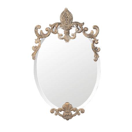 Spiegel 33*3*52 cm Goudkleurig   52S038   Clayre & Eef