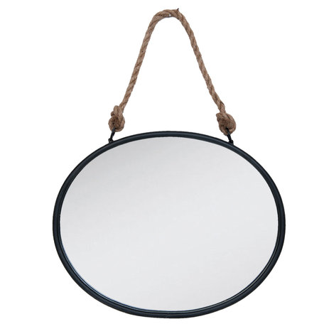 Spiegel 50*4*40 cm Zwart   52S092   Clayre & Eef