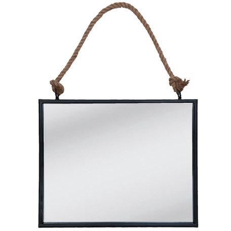 Spiegel 50*4*40 cm Zwart   52S093   Clayre & Eef