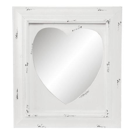 Spiegel 62*5*70 cm Wit   52S115   Clayre & Eef