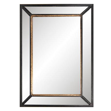 Spiegel 50*70 cm Zwart   52S138   Clayre & Eef