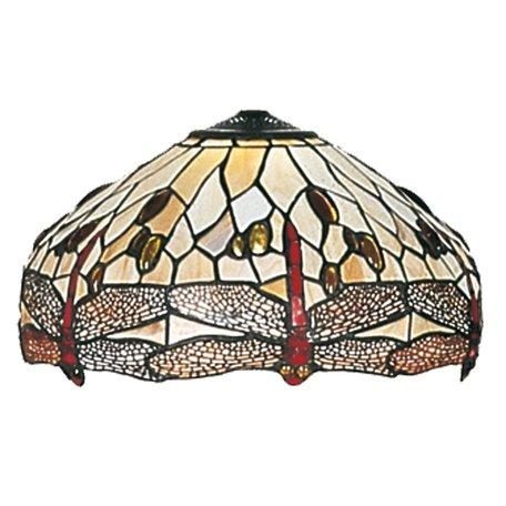 Lampenkap Tiffany ø 40 cm Bruin | 5LL-1101 | Clayre & Eef