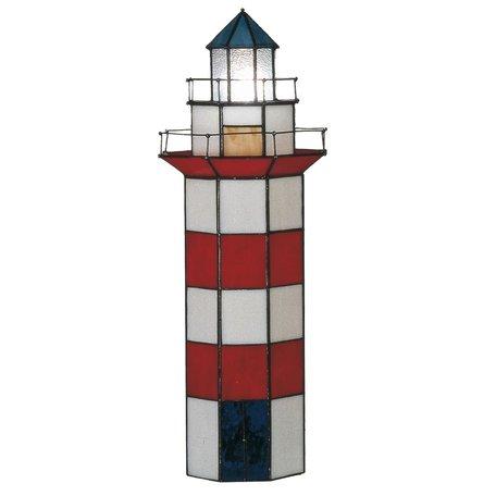 Tafellamp Tiffany ø 21*56 cm E14/max 2*25W Rood | 5LL-1166 | Clayre & Eef