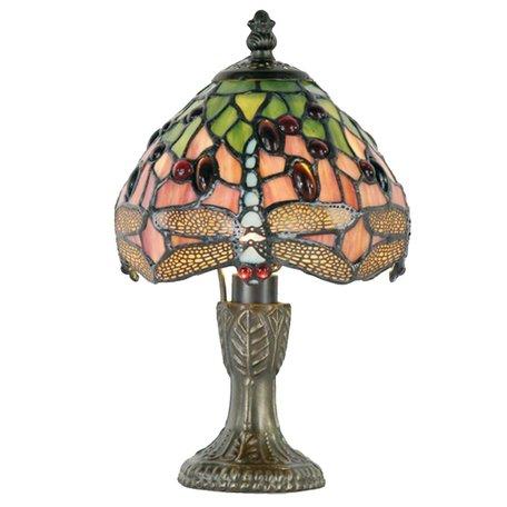Tafellamp Tiffany ø 16*25 cm E14/max 1*25W Groen | 5LL-1188 | Clayre & Eef