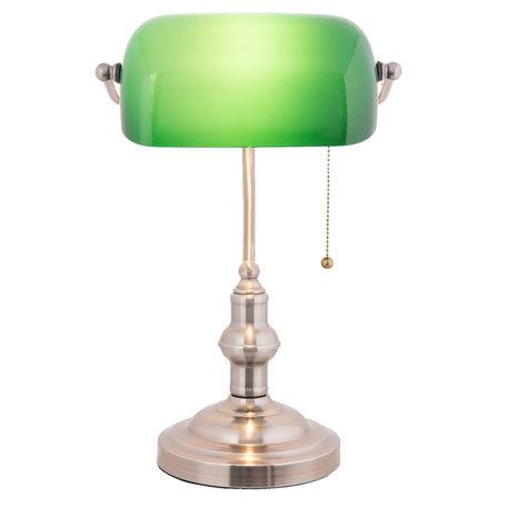 Klassieke Bureaulamp 27*17*41 cm E27/max 1*60W Groen | 5LL-5100 | Clayre & Eef