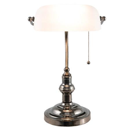Klassieke Bureaulamp 27*23*42 cm E27/max 1*60W Wit | 5LL-5100W | Clayre & Eef