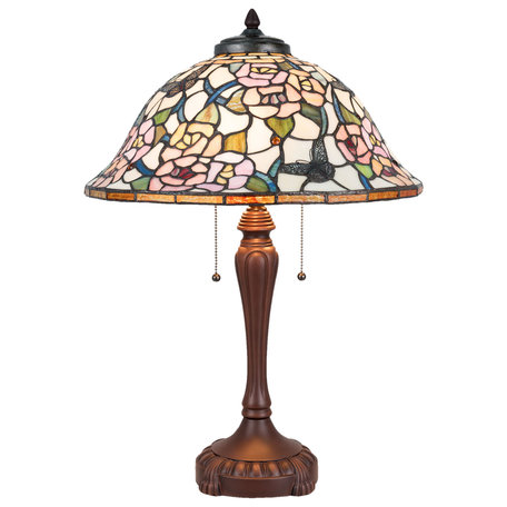Tafellamp Tiffany ø 46*65 cm  E27/max 3*60W Meerkleurig | 5LL-5183 | Clayre & Eef