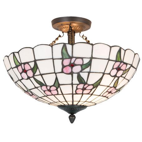 Plafondlamp Tiffany ø 42*31 cm E27/max 2*60W Meerkleurig | 5LL-5191 | Clayre & Eef