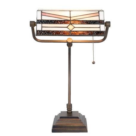 Bureaulamp Tiffany 31*30*52 cm E27/max 1*60W Meerkleurig | 5LL-5193 | Clayre & Eef