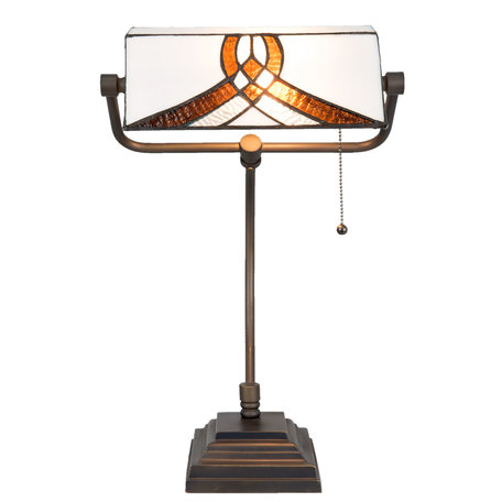 Bureaulamp Tiffany 31*30*52 cm E27/max 1*60W Meerkleurig | 5LL-5195 | Clayre & Eef