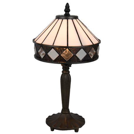 Tafellamp Tiffany ø 20*36 cm E14/max 1*40W Zwart | 5LL-5197 | Clayre & Eef