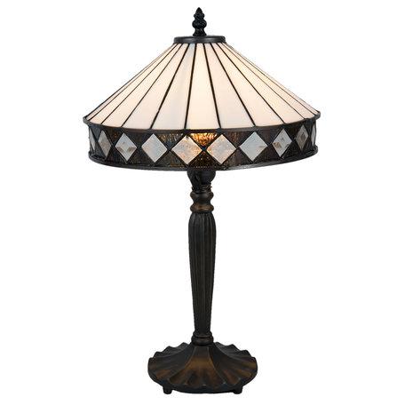 Tafellamp Tiffany ø 30*47 cm E27/max 1*60W Zwart | 5LL-5198 | Clayre & Eef
