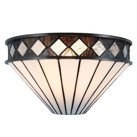 Wandlamp Tiffany 31*16*17 cm E14/max 1*40W Wit | 5LL-5199 | Clayre & Eef