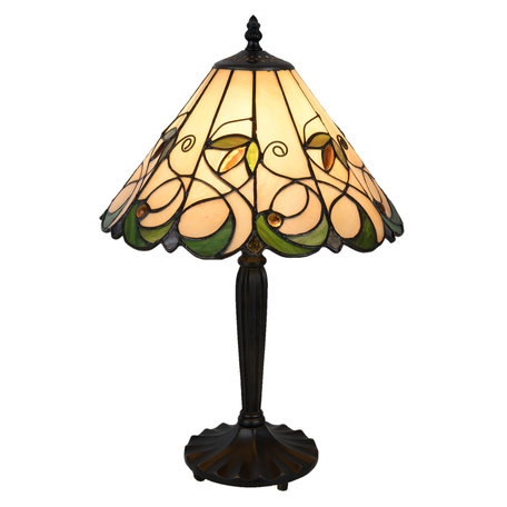 Tafellamp Tiffany ø 31*48 cm E27/max 1*60W Meerkleurig | 5LL-5207 | Clayre & Eef
