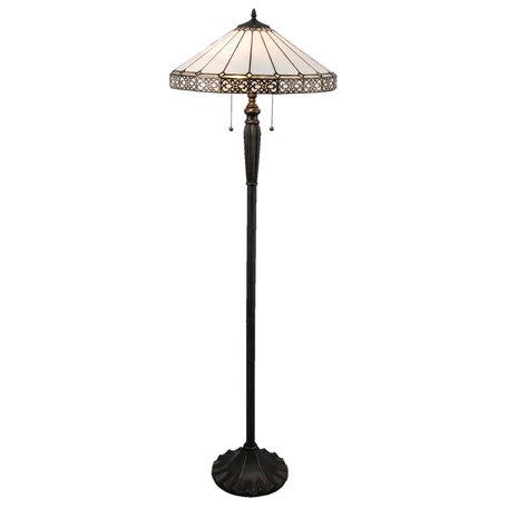 Vloerlamp Tiffany ø 51* 160 cm E27/max 2*60W Zwart | 5LL-5210 | Clayre & Eef