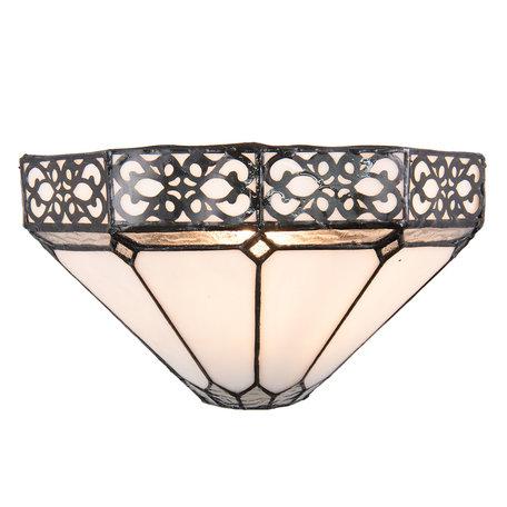 Wandlamp Tiffany 30*15*16 cm E14/max 1*40W Zwart | 5LL-5212 | Clayre & Eef