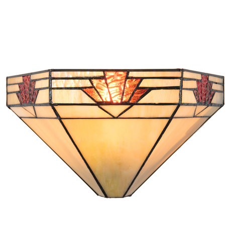Wandlamp Tiffany 31*15*17 cm E14/max 1*40W Multi | 5LL-5213 | Clayre & Eef
