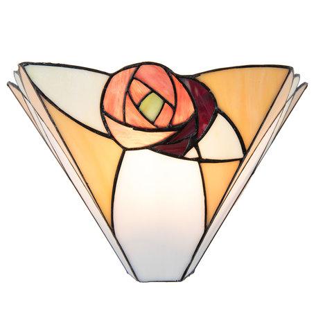 Wandlamp Tiffany 30*14*19 cm E14/max 1*40W Creme | 5LL-5214 | Clayre & Eef