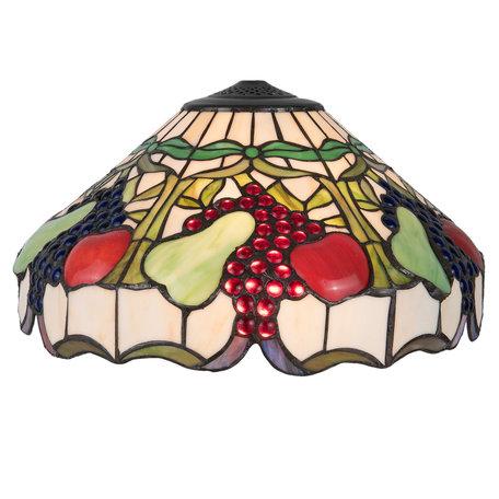 Lampenkap Tiffany ø 42*23 cm Meerkleurig | 5LL-5215 | Clayre & Eef