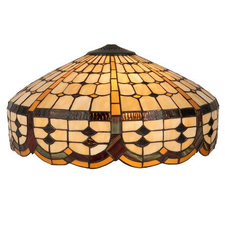 Lampenkap Tiffany ø 51*24 cm Bruin | 5LL-5216 | Clayre & Eef