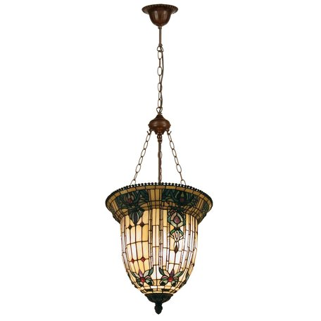 Hanglamp Tiffany ø 41*126 cm E27/max 3*60W Creme | 5LL-5307 | Clayre & Eef