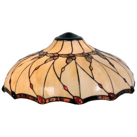 Lampenkap Tiffany ø 51*21 cm Creme | 5LL-5345 | Clayre & Eef