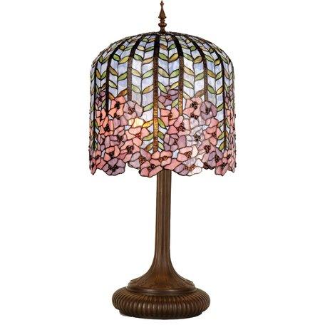 Tafellamp Tiffany ø 40*84 cm E27/max 3*60W Meerkleurig   5LL-5375   Clayre & Eef