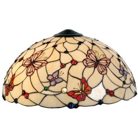 Lampenkap Tiffany ø 48 cm Creme | 5LL-5382 | Clayre & Eef