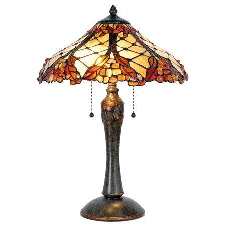 Tafellamp Tiffany ø 47*60 cm E27/max 2*60W Meerkleurig | 5LL-5384 | Clayre & Eef