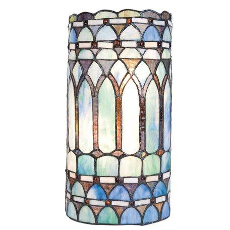Wandlamp Tiffany 20*11*36 cm E14/max 2*40W Meerkleurig | 5LL-5508 | Clayre & Eef