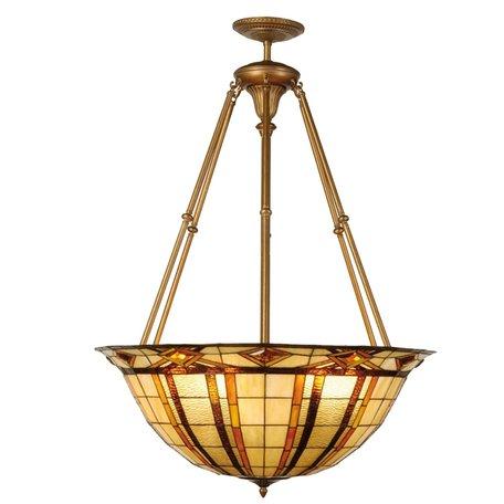 Hanglamp Tiffany ø 92*126 cm E27/max 6*60W Meerkleurig | 5LL-5527 | Clayre & Eef