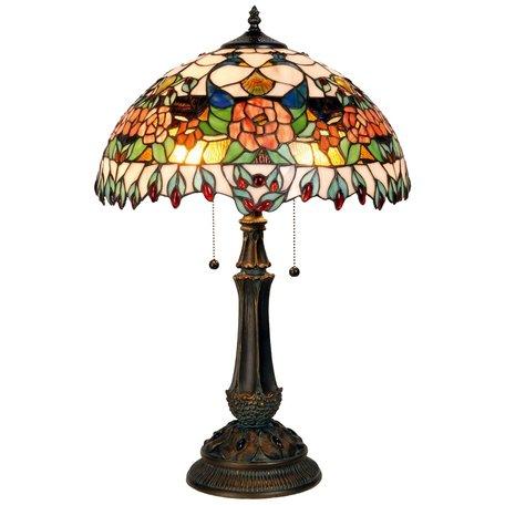 Tafellamp Tiffany ø 41*67 cm E27/max 1*60W Meerkleurig | 5LL-5530 | Clayre & Eef