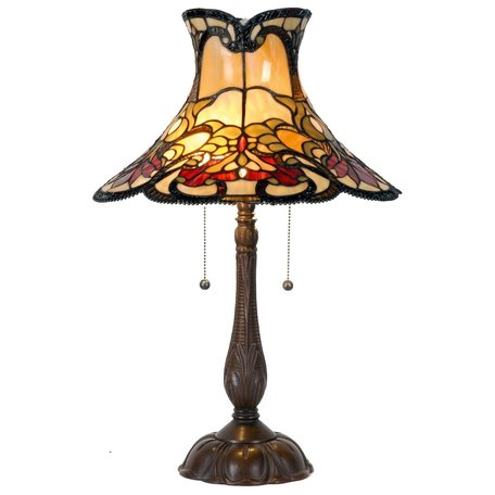 Tafellamp Tiffany ø 51*66 cm E27/max 2*60W Meerkleurig | 5LL-5533 | Clayre & Eef