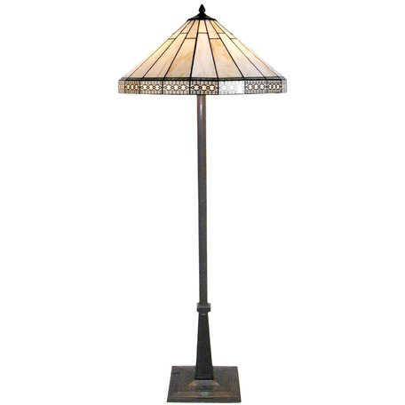 Vloerlamp Tiffany ø 50*164 cm E27/max 2*60W Meerkleurig | 5LL-5564 | Clayre & Eef
