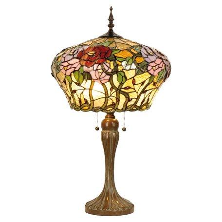 Tafellamp Tiffany ø 40*72 cm E27/max 2*60W Meerkleurig | 5LL-5571 | Clayre & Eef