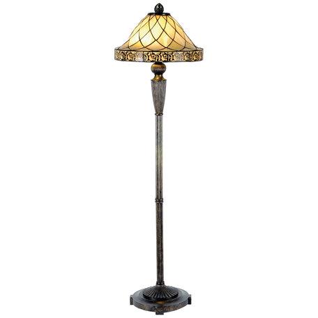 Vloerlamp Tiffany ø 46*168 cm E27/max 2*60W Meerkleurig | 5LL-5613 | Clayre & Eef
